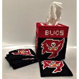 Tampa Bay Buccaneers Tissue Box and Coaster Set